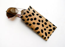 Eyeglass Sleeve / Leopard Leather Calf Hair