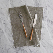Dinner Napkin / Olive Green Chambray