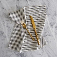 Dinner Napkin / Olive and Cream Link