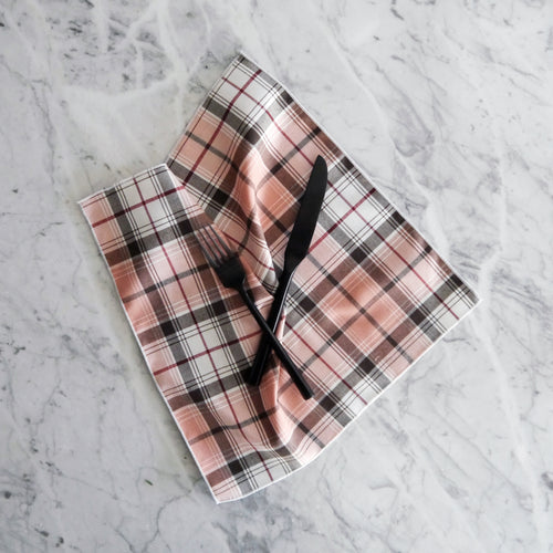 Dinner Napkin / Pink Plaid