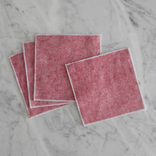 Cocktail Napkin Set / Red Chambray