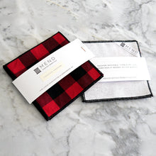 Cocktail Napkin Set / Buffalo Plaid Gingham