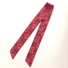 Skinny Scarf / Red Bohemian Floral
