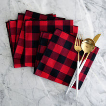 Dinner Napkin / Buffalo Plaid Gingham