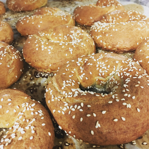 Sesame Seed Bagels by the dozen
