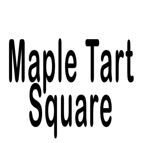 Maple Buttertart Square