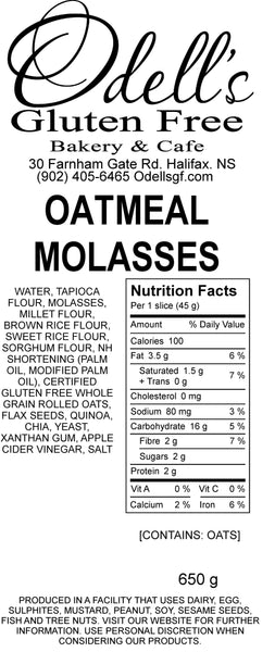 OATMEAL MOLASSED BREAD