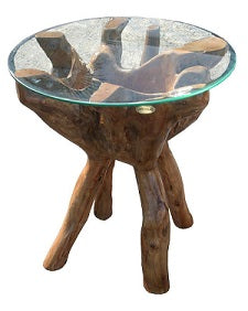 Our teak root tables and candle holders are stunning and unique!