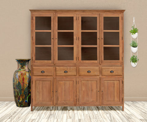 Recycled teak bali cupboard large