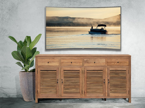 recycled teak louvered cabinets
