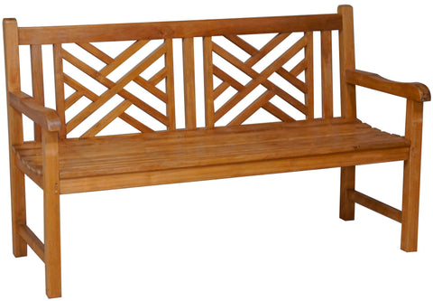 Teak Wood Benches, Teak Chippendale bench