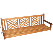 Teak Wood Chippendale Triple Swing - Chic Teak