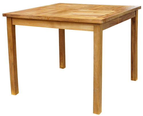 Teak Wood Havana Outdoor Bar Table, 35 Inch - Chic Teak