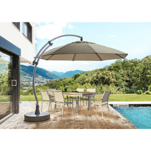 Sun Garden 13 Ft. Easy Sun Cantilever Umbrella and Parasol, the Original from Germany, Heather Canopy with Bronze Frame