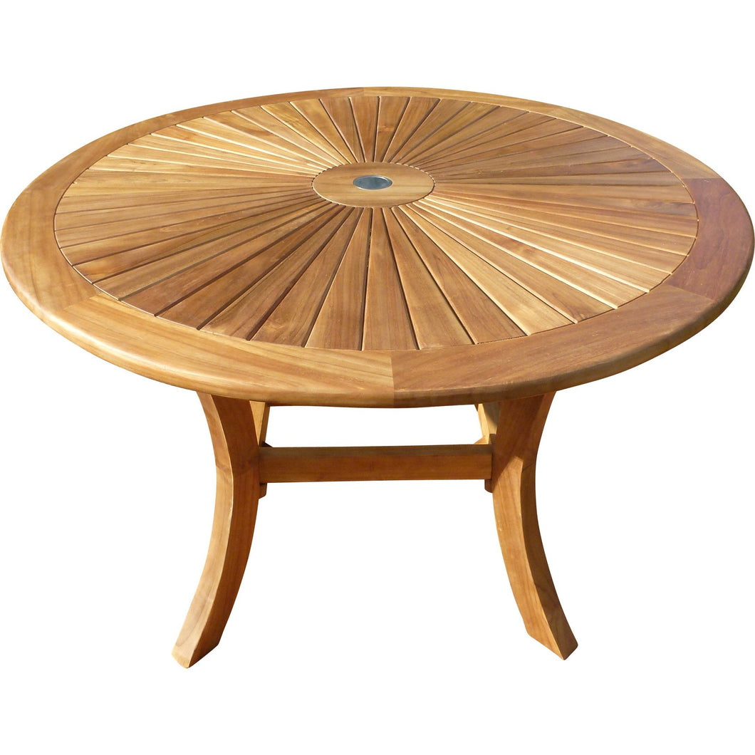 Teak Sun Dining Table, 47 Inch - Chic Teak