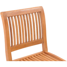 Teak Wood Castle Side Chair