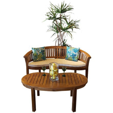 Teak Wood Peanut Double Bench - Chic Teak