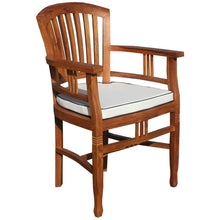 11 Piece Teak Wood Orleans Table/Chair Set With Cushions - Chic Teak
