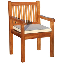 9 Piece Semi Rectangular Teak Wood Elzas Table/Chair Set With Cushions - Chic Teak