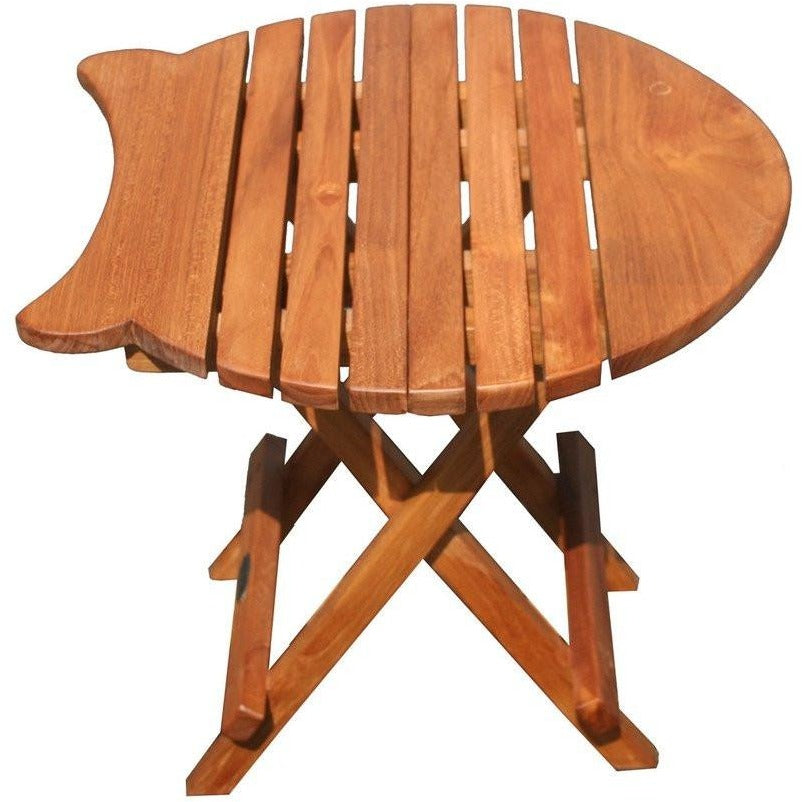 Teak Wood Fish Folding Picnic Table - Chic Teak