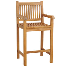 Teak Wood Elzas Barstool with Arms