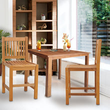 Teak Wood Elzas Counter Stool without Arms