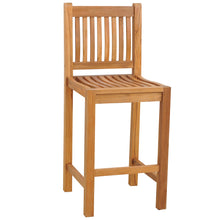 Teak Wood Elzas Barstool without Arms