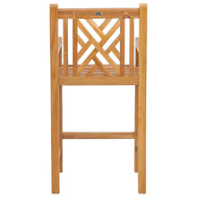 Teak Wood Chippendale Patio Bar Chair