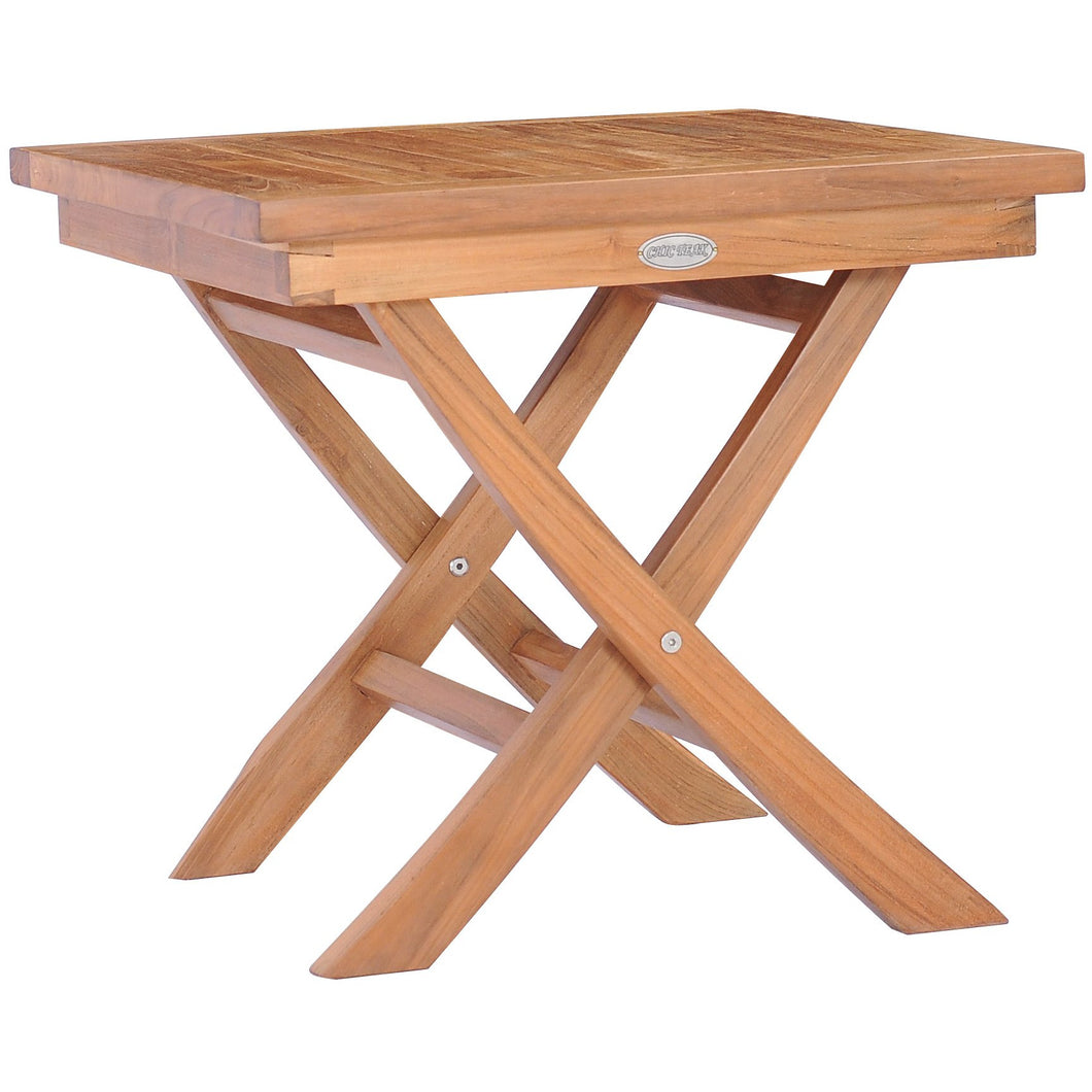 Teak Wood Titanic Folding Side Table