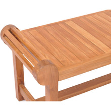 Teak Wood Lutyens Backless Bench