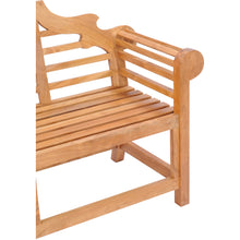 Teak Wood Lutyens Double Bench