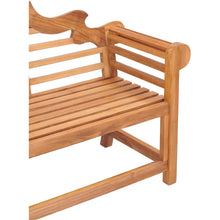Teak Wood Lutyens Triple Bench