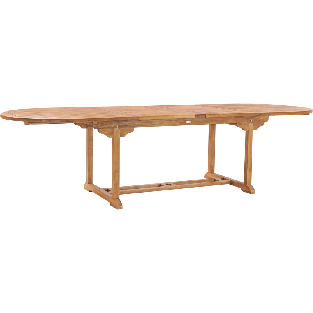 Teak Wood Orleans Oval Double Extension Table