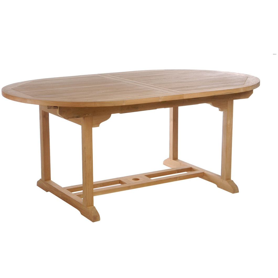 Teak Orleans Oval Extension Table-Chic Teak