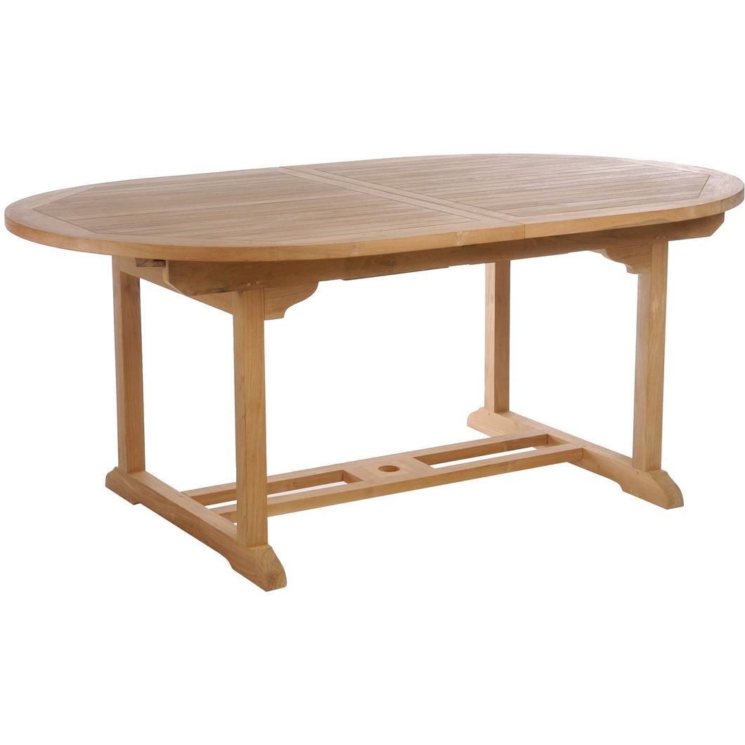 Teak Wood Orleans Oval Extension Table - Chic Teak
