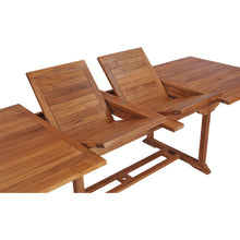 Teak Wood Italy Rectangular Double Extension Table