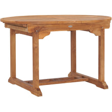Teak Wood Orleans Round to Oval Extension Table