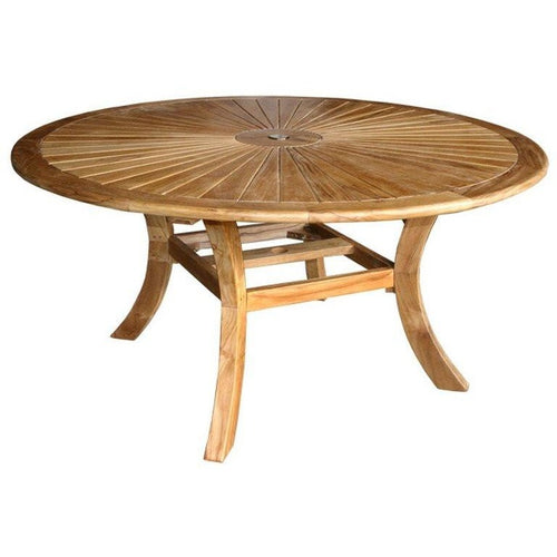 Teak Sun Dining Table, 58 Inch - Chic Teak - Shop Round, Oval And Rectangular Teak Patio Dining Tables By Chic