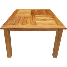 Teak Wood Seville Outdoor Patio Counter Height Bistro Table - 27 inch