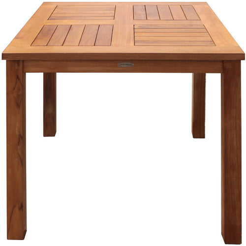 Teak Wood Florence Outdoor Patio Bistro Table, 35 Inch