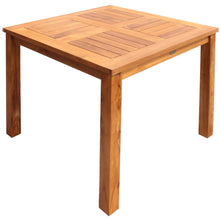 Teak Wood Florence Outdoor Patio Bistro Table, 27 Inch