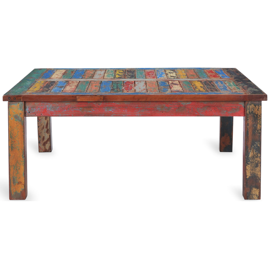 Square Coffee Table made from Recycled Teak Wood Boats