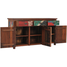 "Buffet with 3 Doors and 3 Drawers Made from Recycled Teak Wood Boats - 63"" Wide"