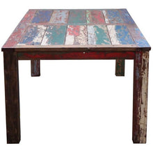 Teak Dining Table Made From Recycled Boats, 71 X 43 Inches-Chic Teak