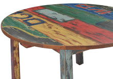 Round Dining Table made from Recycled Teak Wood Boats, 55 inch