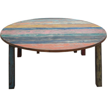 Round Dining Table made from Recycled Teak Wood Boats, 55 inch - Chic Teak