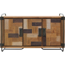 Recycled Teak Wood Mozaik Art Deco Storage Chest / TV Stand - Chic Teak
