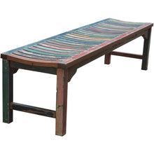Backless Dining Bench made from Recycled Teak Wood Boats, 6 foot - Chic Teak