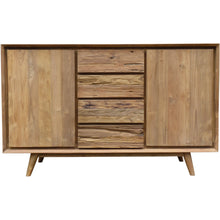Recycled Teak Wood Retro Dresser/Media Center with 2 Doors, 4 Drawers