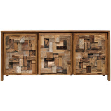 Recycled Teak Wood Mozaik Media Center / Chest with 3 Doors - Chic Teak
